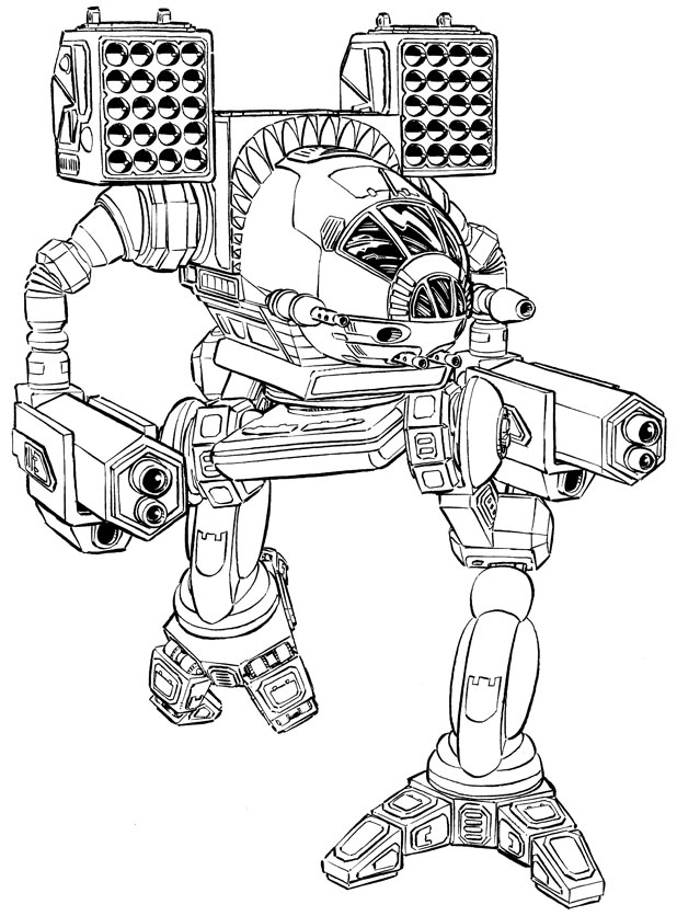 Mech X4 Pages Coloring Pages