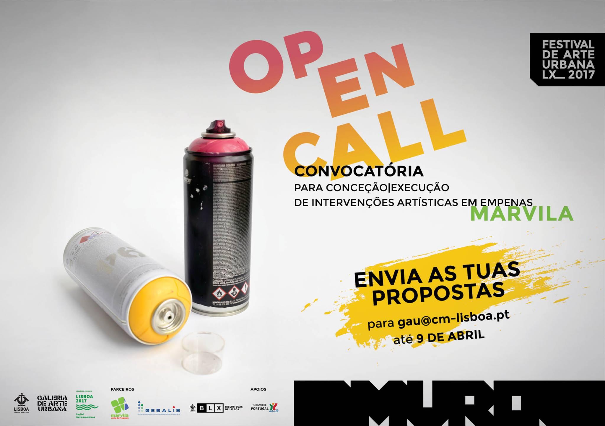 Wallspot Post - CONVOCATÓRIA GALERIA DE ARTE URBANA | OPEN CALL FESTIVAL MURO LX_2017