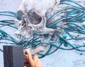 Wallspot -Rockaxson - ALIVE or DEAD - Barcelona - Tres Xemeneies - Graffity - Legal Walls - Illustration - Artist - S.Waknine