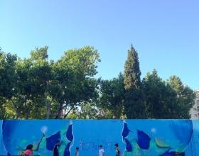 Wallspot -Rockaxson - NEON SKULL - Barcelona - Tres Xemeneies - Graffity - Legal Walls - Illustration - Artist - Berol377