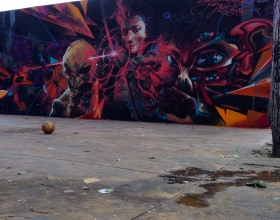 Wallspot -Rockaxson - INTERSTELLAR - Barcelona - Tres Xemeneies - Graffity - Legal Walls - Illustration - Artist - Jalón de Aquiles