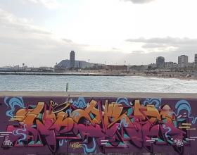 Wallspot - lizré - Barcelona - Forum beach - Graffity - Legal Walls -