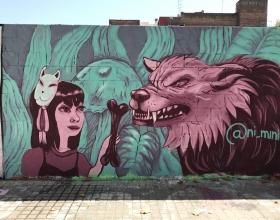 Wallspot - Nimini - Poble Nou - Nimini - Barcelona - Poble Nou - Graffity - Legal Walls - Illustration