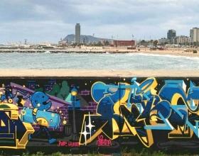 Wallspot - bemie - Barcelona - Forum beach - Graffity - Legal Walls -