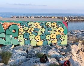 Wallspot - La regadera grafica - Barcelona - Forum beach - Graffity - Legal Walls -
