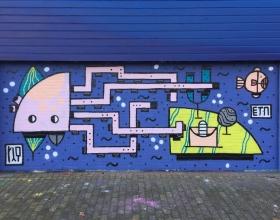 Wallspot - Riq Etiq - THE OCTOPUS WALL - Rotterdam - Croos - Graffity - Legal Walls - Illustration, Others