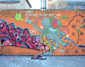 Wallspot - El Rughi - Don't call me when I'm painting! - Barcelona - Drassanes - Graffity - Legal Walls - Letters, Illustration