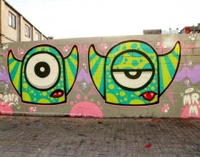 Wallspot -senyorerre3 - Art Mr.M - Barcelona - Poble Nou - Graffity - Legal Walls - Illustration - Artist - Mr.M