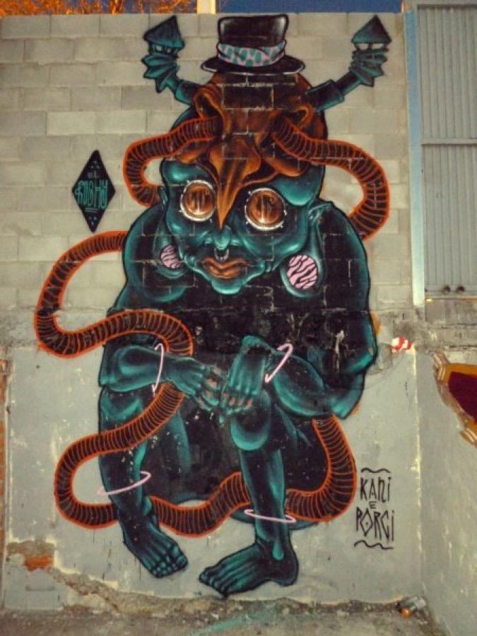 Wallspot - El Rughi -  - Barcelona - Tres Xemeneies - Graffity - Legal Walls - Illustration