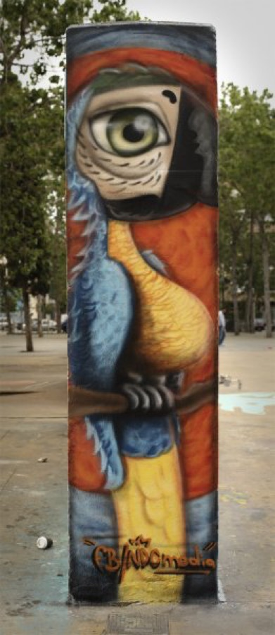 Wallspot - NiñoDeCobre -  - Barcelona - Tres Xemeneies - Graffity - Legal Walls -