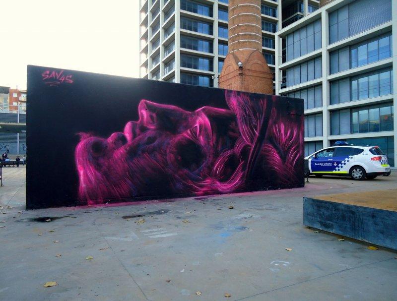 Wallspot - savf -  - Barcelona - Tres Xemeneies - Graffity - Legal Walls - Illustration, Others