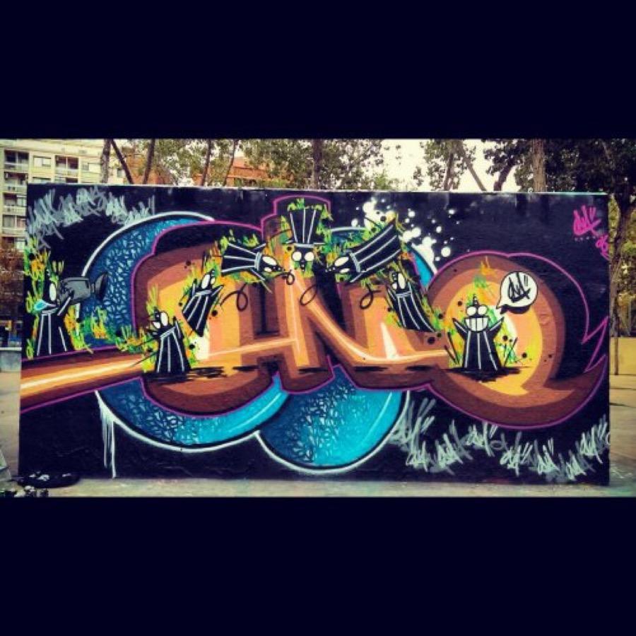 Wallspot - ONA -  - Barcelona - Tres Xemeneies - Graffity - Legal Walls - Letters, Illustration