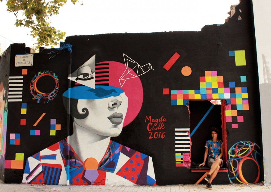 Wallspot - Magda Ćwik - Free Your Mind - Barcelona - Agricultura - Graffity - Legal Walls - Illustration