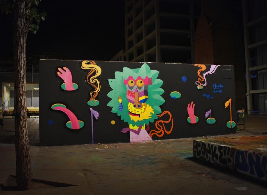 Wallspot - Magda Ćwik - Cricket Monkey - Barcelona - Tres Xemeneies - Graffity - Legal Walls - Illustration