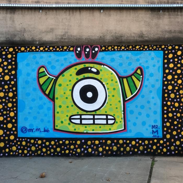 Wallspot - Mr.M - UE Sant Andreu - Mr.M - Barcelona - UE Sant Andreu - Graffity - Legal Walls - Illustration