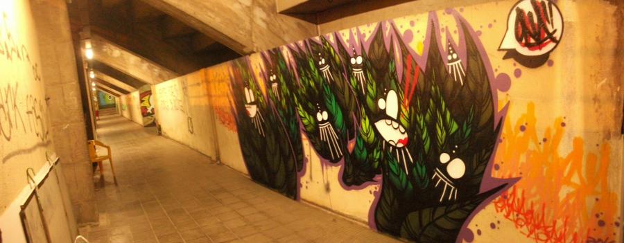 Wallspot - ONA - UE Sant Andreu - ONA - Barcelona - UE Sant Andreu - Graffity - Legal Walls - Letters, Illustration