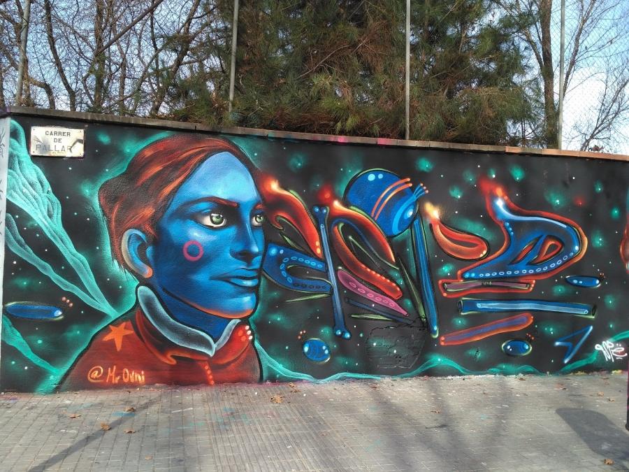 Wallspot - evalop - Mr Ovni - Barcelona - Agricultura - Graffity - Legal Walls - Illustration
