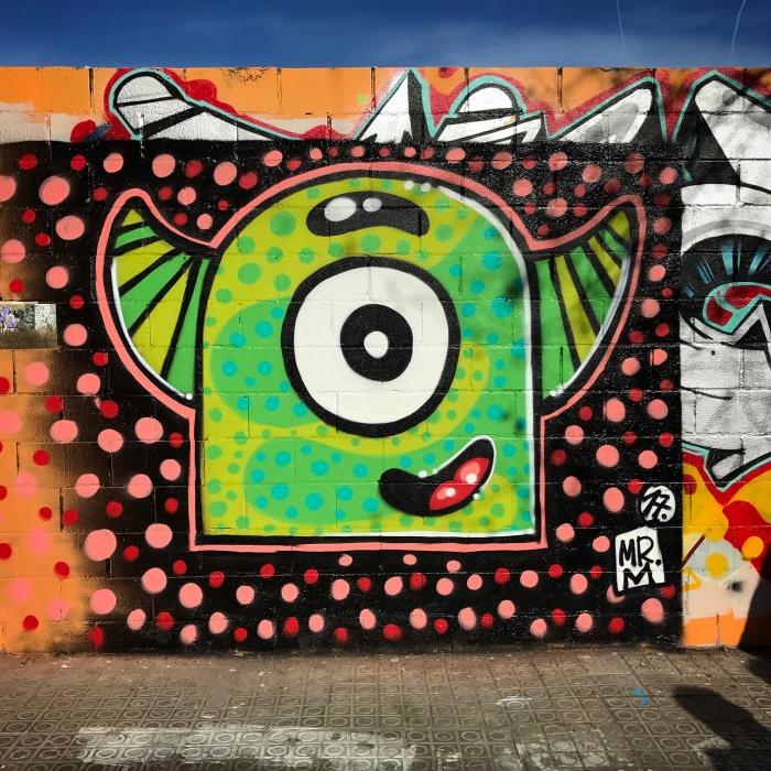 Wallspot - Mr.M - Poble Nou - Mr.M - Barcelona - Poble Nou - Graffity - Legal Walls - Illustration