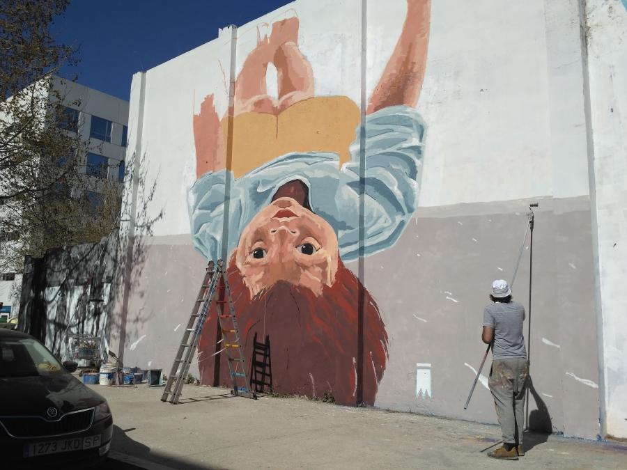 Wallspot - evalop - evalop - Projecte 17/03/2017 - Barcelona - Agricultura - Graffity - Legal Walls - Illustration - Artist - elmanu