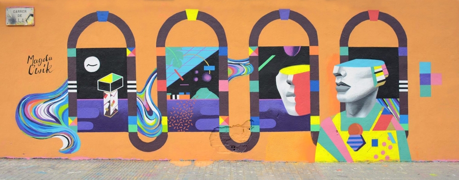 Wallspot - Magda Ćwik - Parallel Minds - Barcelona - Agricultura - Graffity - Legal Walls - Illustration