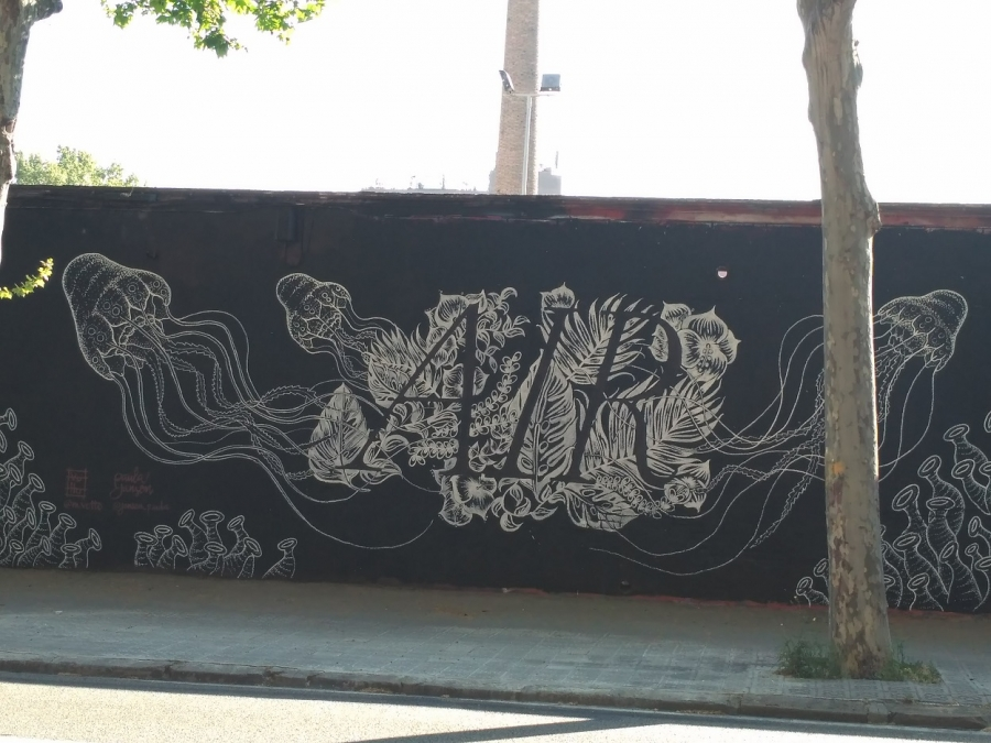 Wallspot - evalop - evalop - Projecte 13/04/2017 - Barcelona - Selva de Mar - Graffity - Legal Walls - Illustration - Artist - Paula Jansen