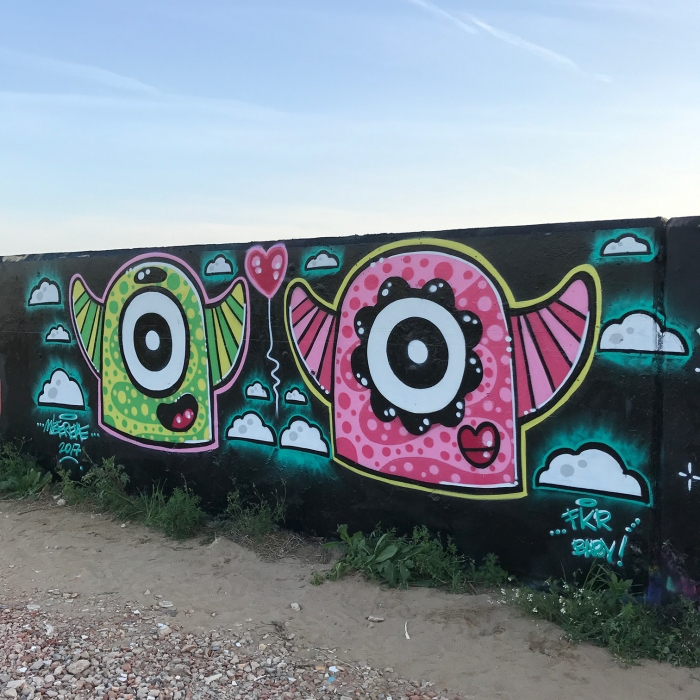 Wallspot - Mr.M - Forum beach - Mr.M - Barcelona - Forum beach - Graffity - Legal Walls - Illustration