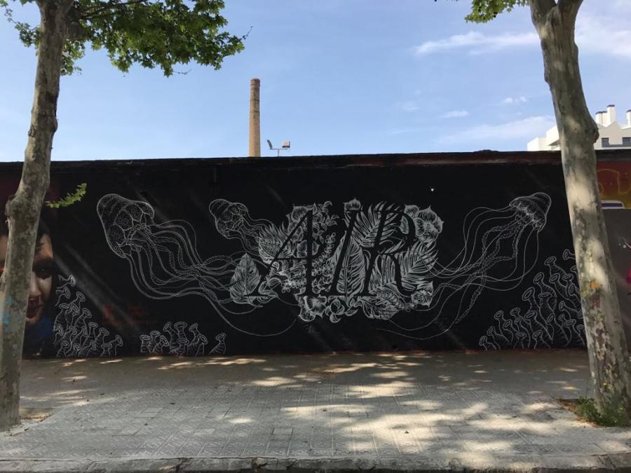 Wallspot - Paula Jansen - Selva de Mar - Paula Jansen - Barcelona - Selva de Mar - Graffity - Legal Walls - Letters, Illustration