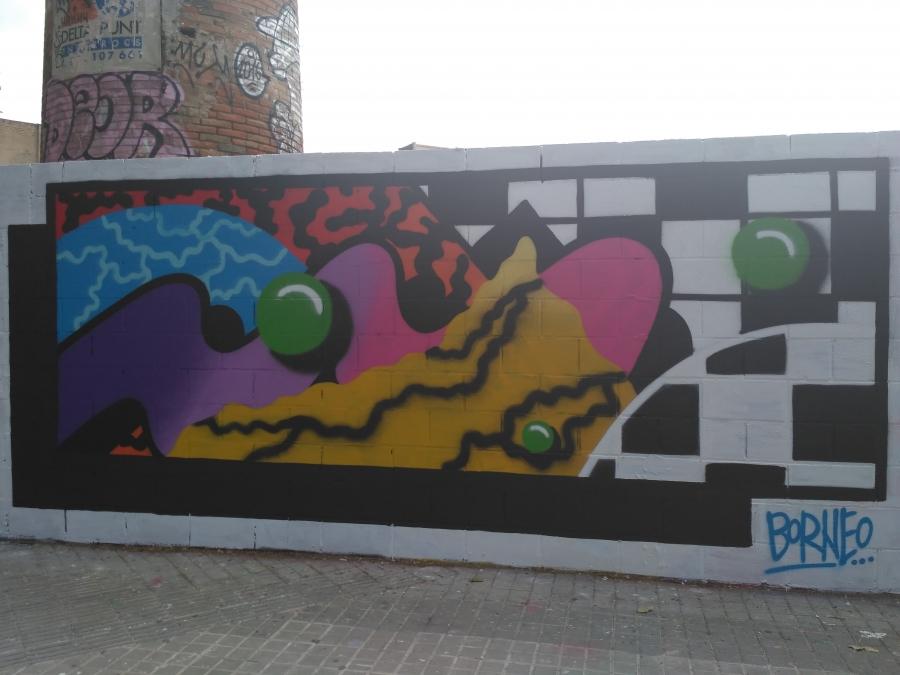 Wallspot - evalop - evalop - Project 19/05/2017 - Barcelona - Poble Nou - Graffity - Legal Walls - Illustration - Artist - Borneo Modofoker