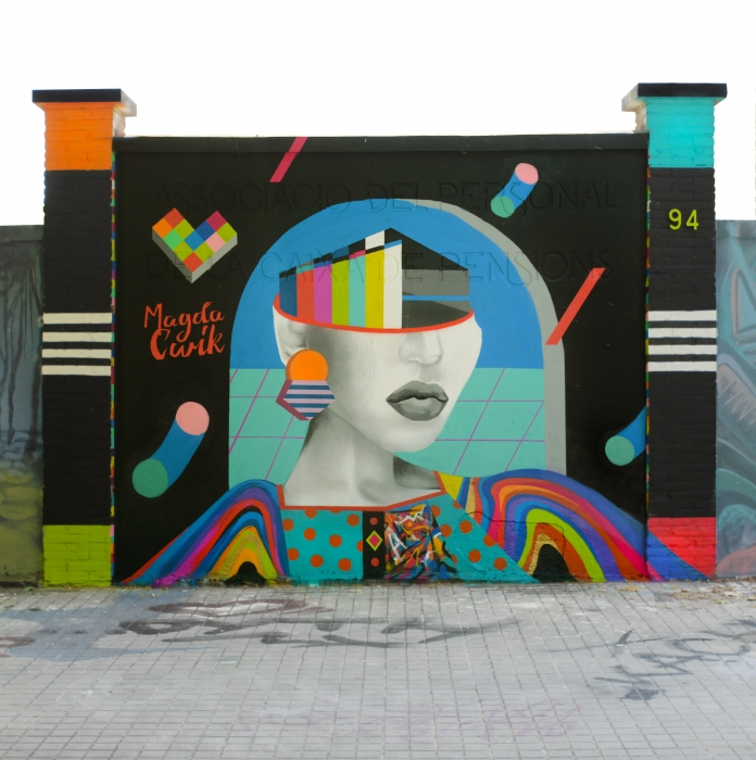 Wallspot - Magda Ćwik - Tin - Barcelona - Agricultura - Graffity - Legal Walls - Illustration