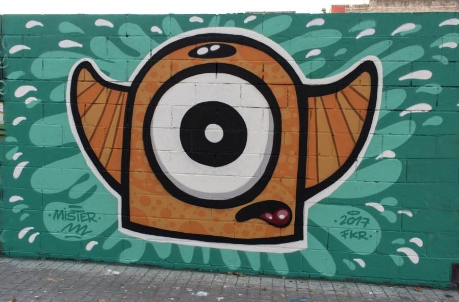 Wallspot - cbs350 - Mr.M - Barcelona - Poble Nou - Graffity - Legal Walls - Illustration - Artist - Mr.M