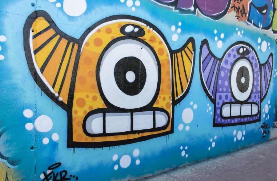 Wallspot - cbs350 - Mr.M - Barcelona - Mas Guinardó - Graffity - Legal Walls - Illustration - Artist - Mr.M