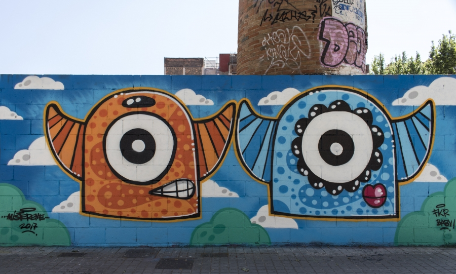 Wallspot - cbs350 - Mr.M - Barcelona - Poble Nou - Graffity - Legal Walls - Illustration - Artist - Mr.M