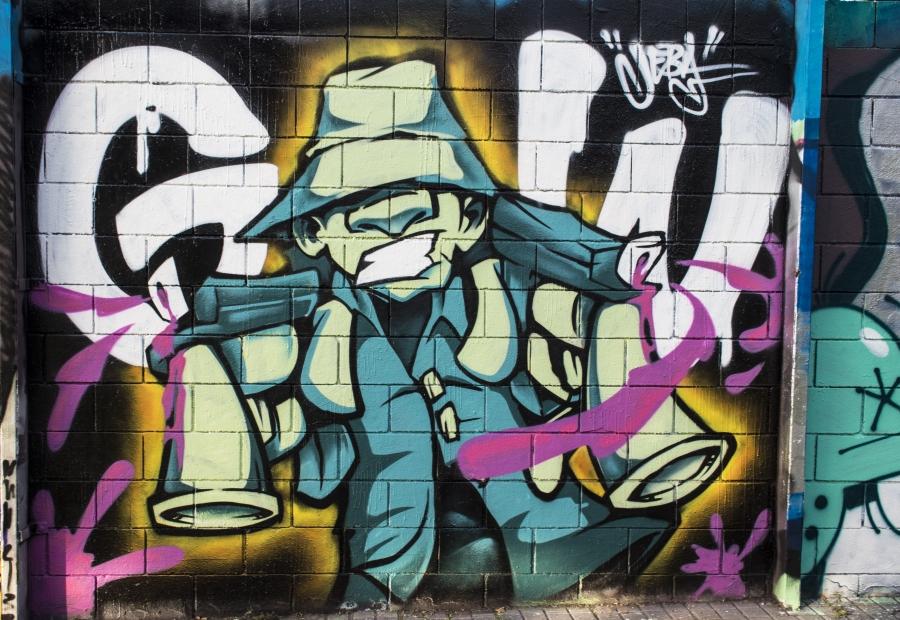 Wallspot - cbs350 - cbs350  - Barcelona - Drassanes - Graffity - Legal Walls - Illustration