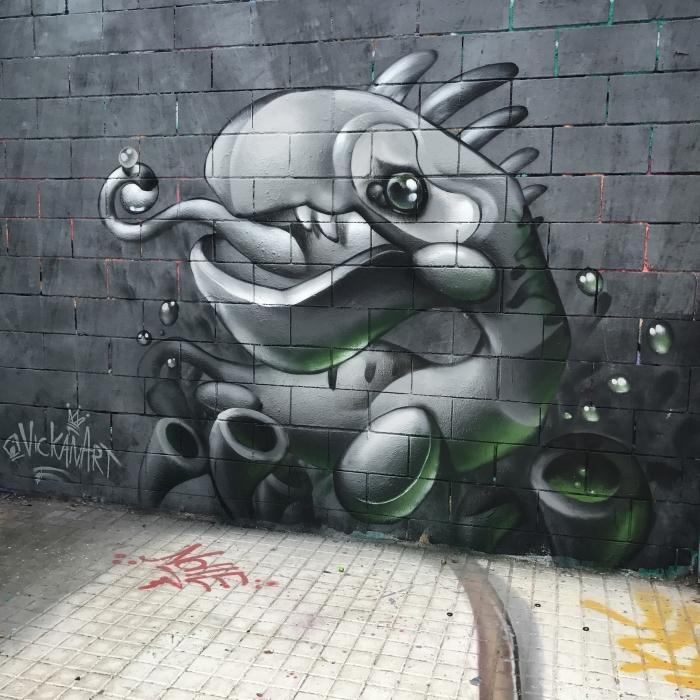 Wallspot - VickanArt -  - Barcelona - Drassanes - Graffity - Legal Walls -