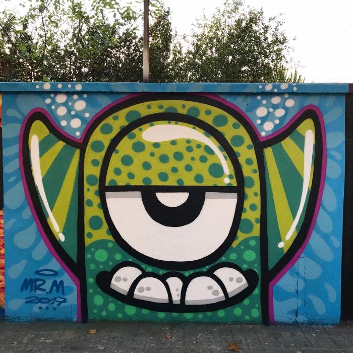 Wallspot - Mr.M - Agricultura - Mr.M - Barcelona - Agricultura - Graffity - Legal Walls - Illustration