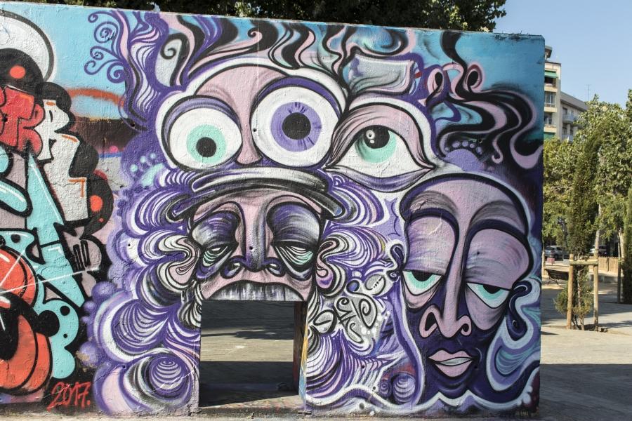 Wallspot - cbs350 - cbs350 -  - Barcelona - Tres Xemeneies - Graffity - Legal Walls - Letters, Illustration