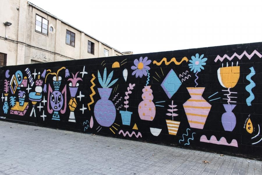 Wallspot - cbs350 - cbs350  - Barcelona - Poble Nou - Graffity - Legal Walls - Illustration