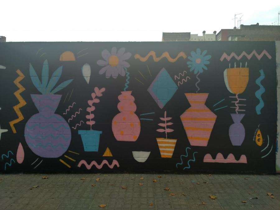 Wallspot - evalop - Emily Eldridge - Barcelona - Poble Nou - Graffity - Legal Walls - Illustration