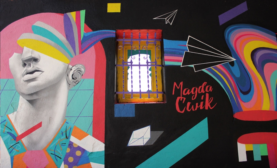 Wallspot - Magda Ćwik - Inside Out - Barcelona - Western Town - Graffity - Legal Walls - Illustration, Others