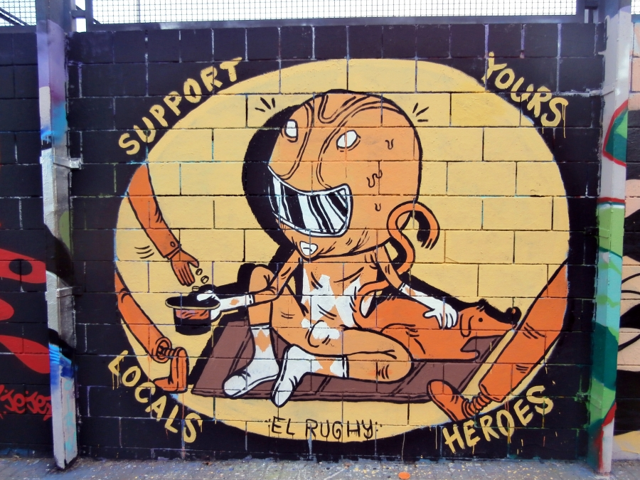 Wallspot - El Rughi - Support Yours Locals Heroes - Barcelona - Drassanes - Graffity - Legal Walls - Illustration, Others
