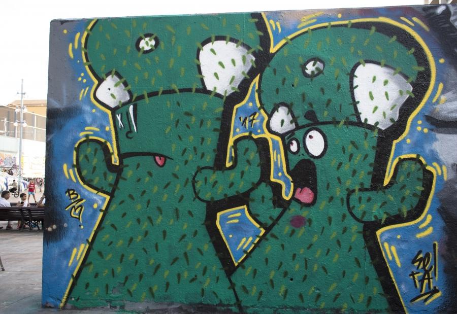 Wallspot - cbs350 - Seta Bcn - Barcelona - Tres Xemeneies - Graffity - Legal Walls - Illustration