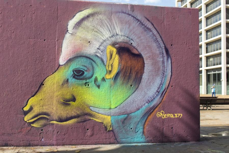 Wallspot - cbs350 - Berol 377 - Barcelona - Tres Xemeneies - Graffity - Legal Walls - Illustration