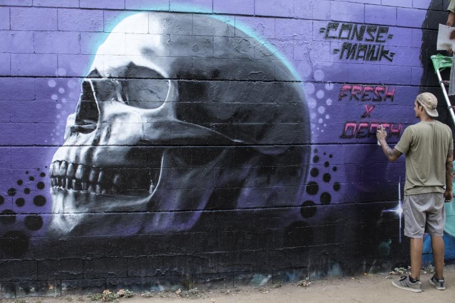 Wallspot - cbs350 - Mawkaroni - Barcelona - Drassanes - Graffity - Legal Walls - Illustration