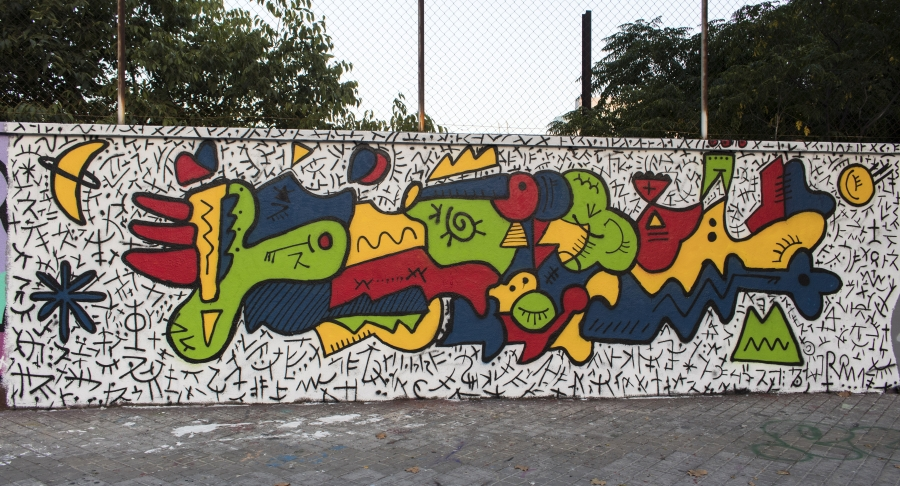Wallspot - cbs350 - cbs350 - Barcelona - Agricultura - Graffity - Legal Walls - Illustration