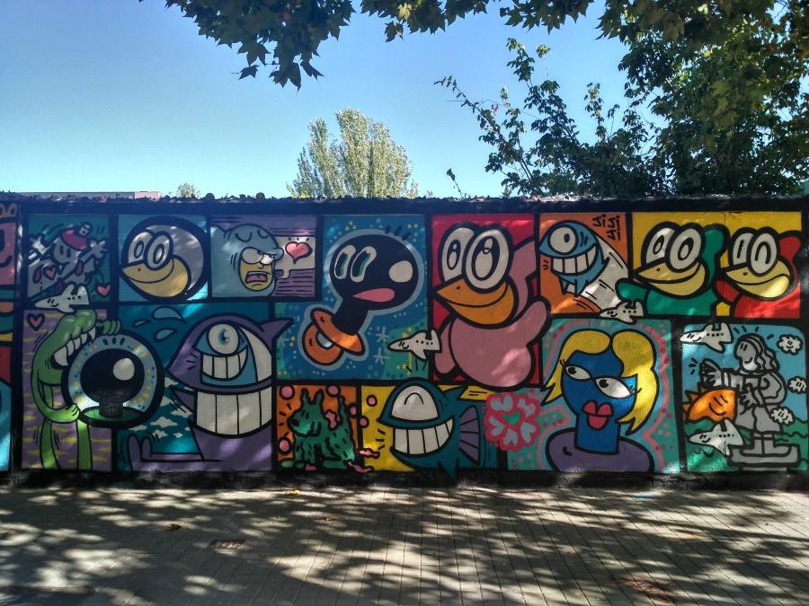 Wallspot - evalop - Kamil Escruela / El Pez / El Xupet Negre - Barcelona - Agricultura - Graffity - Legal Walls - Illustration - Artist - xupet