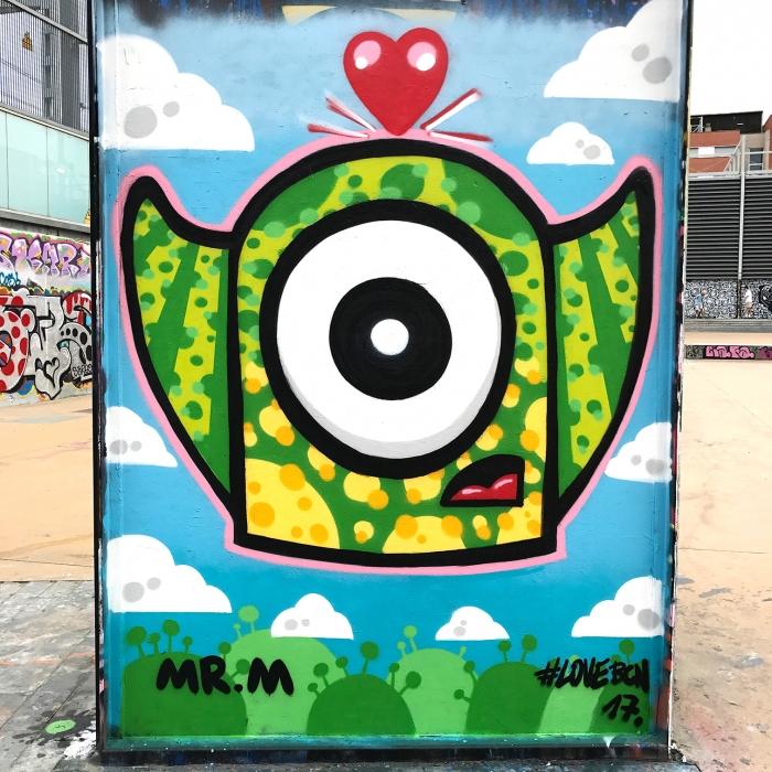 Wallspot - Mr.M - Tres Xemeneies - Mr.M - Barcelona - Tres Xemeneies - Graffity - Legal Walls -