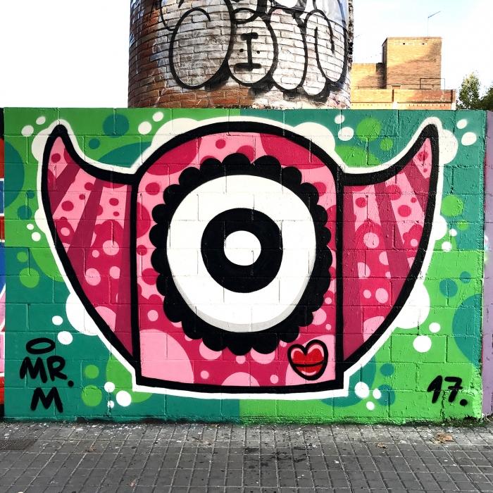 Wallspot - Mr.M - Poble Nou - Mr.M - Barcelona - Poble Nou - Graffity - Legal Walls -