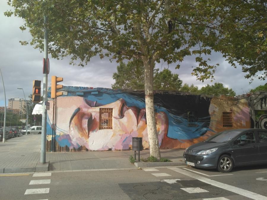 Wallspot - evalop - evalop - Project 19/09/2017 - Barcelona - Western Town - Graffity - Legal Walls - Illustration - Artist - elmanu