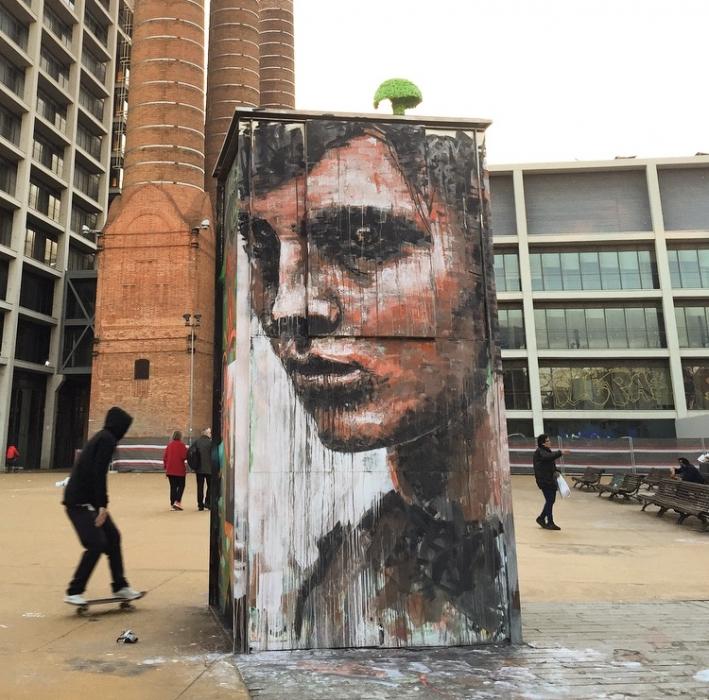 Wallspot - savf - Tres Xemeneies - sav45 - Barcelona - Tres Xemeneies - Graffity - Legal Walls - Illustration, Others