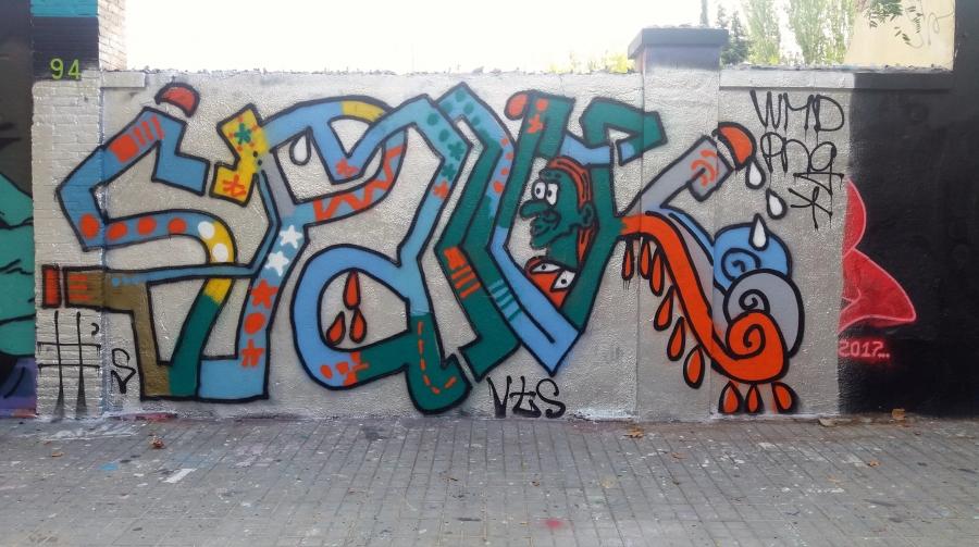 Wallspot - Juanro - Juanro - Proyecto 11/10/2017 - Barcelona - Tres Xemeneies - Graffity - Legal Walls - Illustration